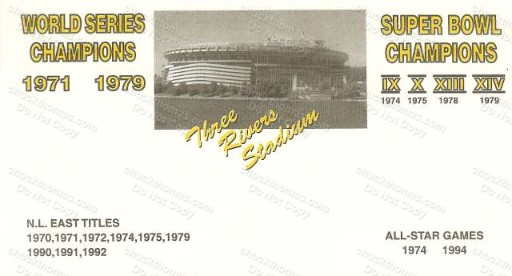 Three Rivers Stadium Postal Cachet