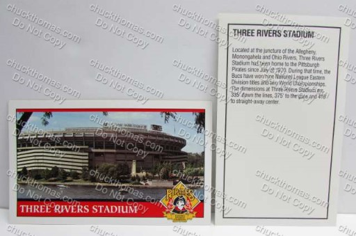 Three Rivers Pirates Baseball NEW Postcard