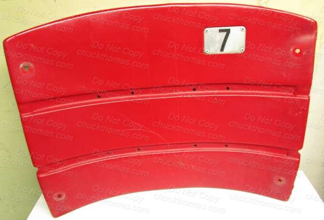 Three Rivers Stadium Original Red Seat Back Number 7