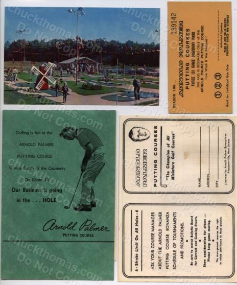 Arnold Palmer Minature Golf Postcard