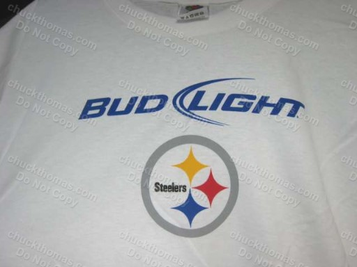 Bud Light and Steeler Steel Logo Tee Shirt
