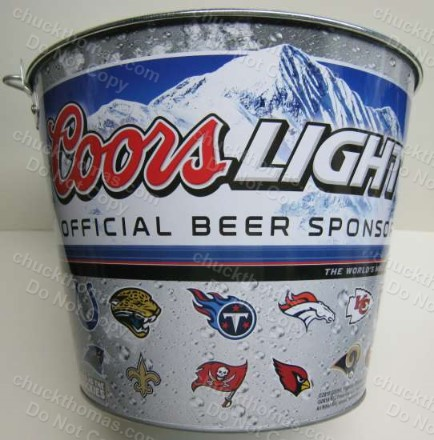 Coors Lite NFL Team Logos Ice Bucket