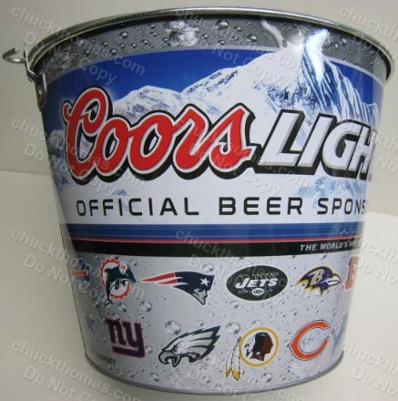 Coor Lite Ice Bucket with NFL Logos