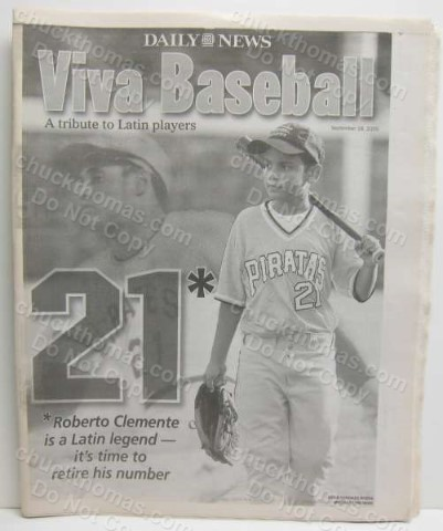 VIVA Baseball 2005 NY Daily News supplement about Latino Baseball players