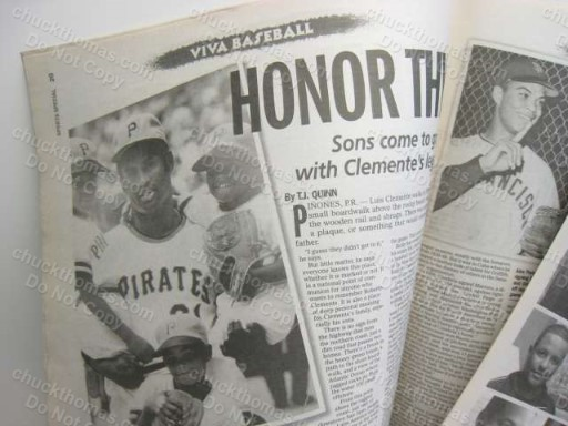 Clemente VIVA Baseball NY Daily News Supplement