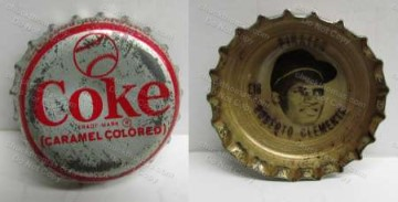 1968 Roberto Clemente COKE Bottle Cap
