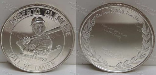 Clemente .999 Silver Hall of Fame Coin