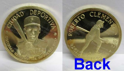 Clemente 3000 Hit Coin from Puerto Rico