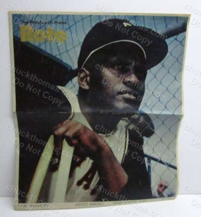 1973 Pittsburgh Roto Newspaper about Clemente