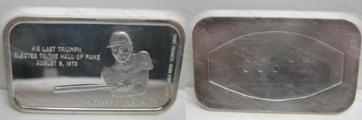 Clemente 'Last Triumph 1 ounce .999 Pure Silver Collectable
