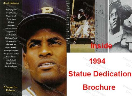 Clemente Statue Dedication Brochure