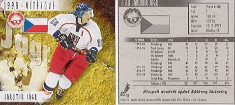 1998 Jagr Nagano Czech Food Card