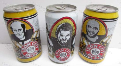 Bradshaw, Blount and Ham 12 oz Iron City Steeler Cans