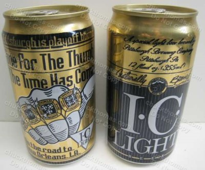 Steelers 1996 One for the Thumb IC Lite Beer Can
