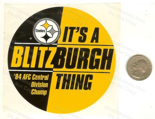 1994 Iron City Beer Steelers Logo  Blitzburgh Case UNUSED Sticker