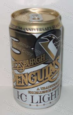 Pittsburgh Penguins Iron City 30th Anniversary Logo Can