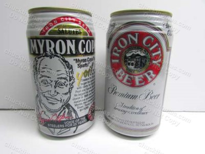 Iron City Beer Can Hall of Famer Myron Cope Announcer