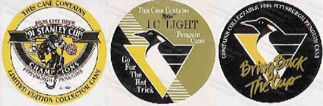 Penguin Hockey Iron City Beer Case Stickers