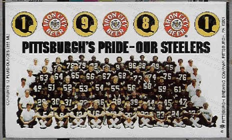 1981 Steelers Iron City Beer Can Flat