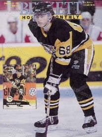 1991 Hockey Beckett Price Guide Jagr Cover