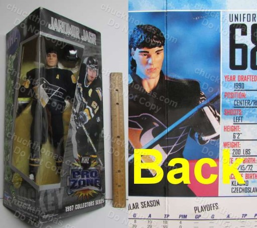 Jagr 1997 Huge 14 Inch Prozone Doll Still in the box