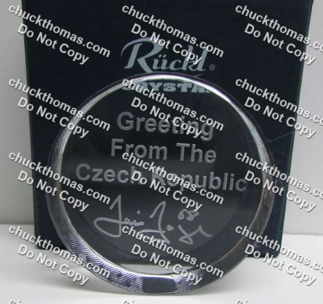 Jagr Crystal Puck
