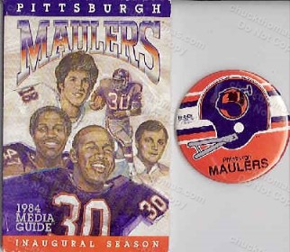 Pittsburgh Maulers Media Guide and Pin
