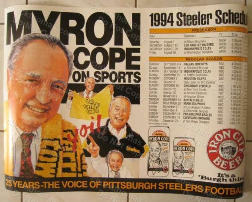 Myron Cope Iron City Shedule Poster Ad