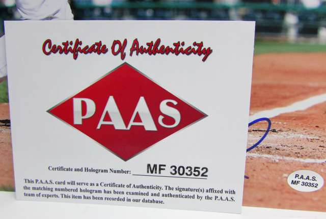 PAAS Certificate Andrew McCutchen Pirate Photo