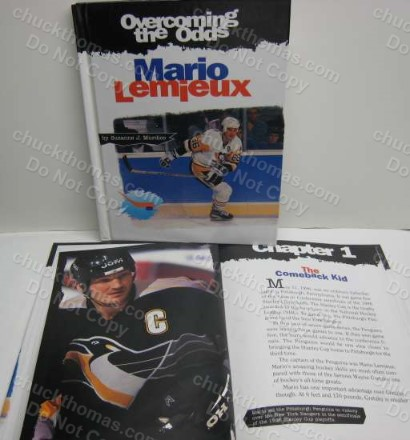 overcoming the odds mario lemieux by suzanne j murdico 1998 was used in a classroom and has written buist in black sharpie on the inside cover