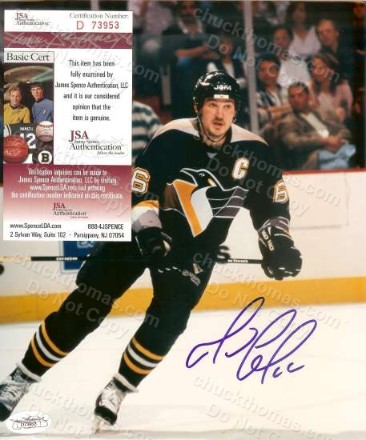 Mario Lemieux Signed Color Photo with a JSA Certificate
