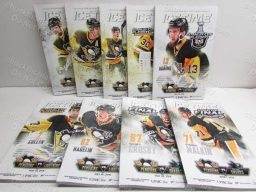 2016 Penguin Playoff Programs