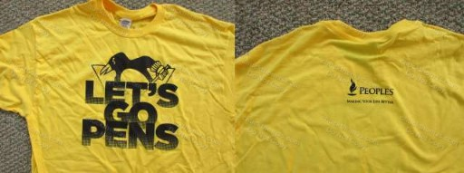 Penguins 2016 Gold Playoff Tee Shirt Peoples Sponsor