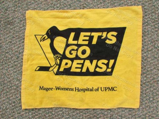 Pens 2016 Playoff Gold Towel Sponsor Magee Womens Hospital of UPMC