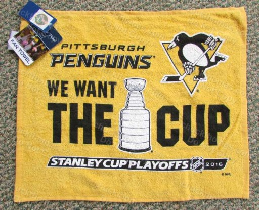 2016 Penguins Stanley Cup Finals Rally Rag Cheering Towel