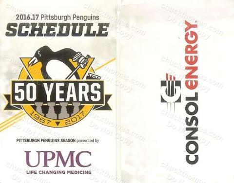 Penguins 2016 -  2017 Pocket Hockey Schedule