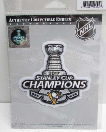 2017 Penguins Stanley Cup Jersey Patch