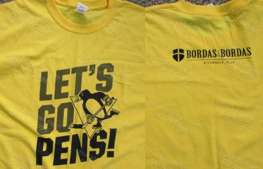 Pens Gold Rush Tees Bordas Attorneys Sponsor