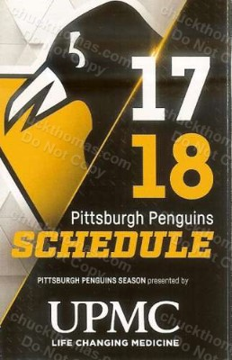 Penguin Hocket 2017-18 Pocket Schedule
