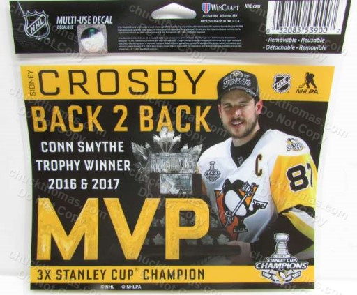 Sidney Crosby Conn Smthye Trophy MVP Winner Decal