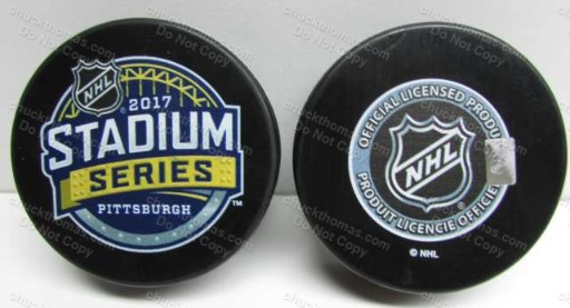 2017 Penguins Stadium Series Puck