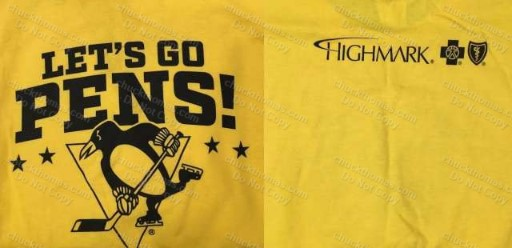 Penguin Hockey Gold Rush Tee Shirt May 2017 Sponsor Highmark