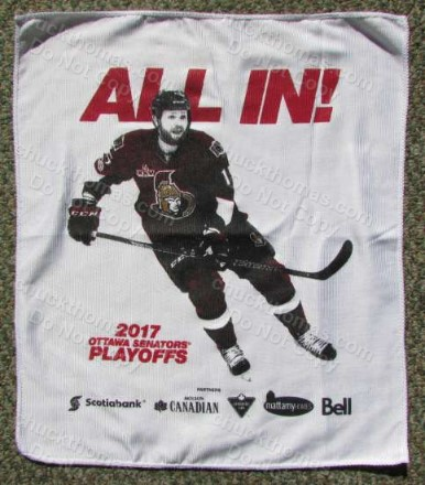 Pens vs Senators 2017 Ottawa Playoff Cheering Towel
