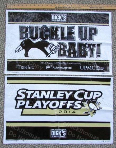 Penguin Playoff Hockey Buckle Up Baby Stanley Cup Playoff Yard Sign
