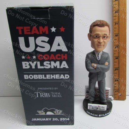 Penguin Coach Dan Bylsma Bobblehead Doll Home Game Promotion