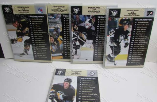 10 DVDs of the Pittsburgh Penguin Hockey Team - Their Greatest Games !