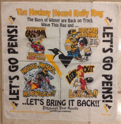 Penguins Mike Lange Hockey Hound Rally Rag