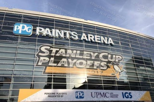 Pittsburgh Paints Arena Pens Stanley Cup Champions Photo