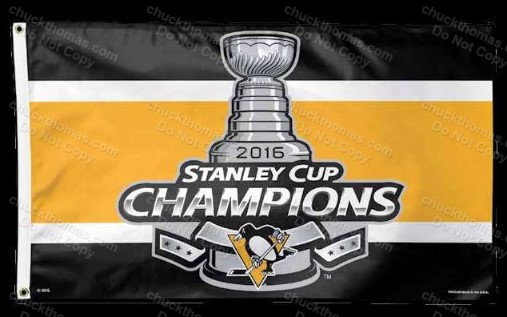 Penguins 2016 Stanley Cup Champions Banner