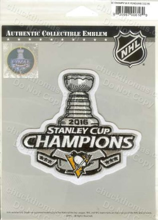 Pittsburgh Penguins 2016 Stanley Cup Champs 4 Imcj Logo Cloth Patch